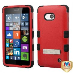 Nokia Lumia 640 Natural Red/Black Hybrid Case with Stand