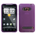 HTC EVO 4G Semi Transparent Purple Candy Skin Cover (Rubberized)