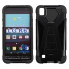 LG X Power / K6 Black Inverse Advanced Armor Stand Case