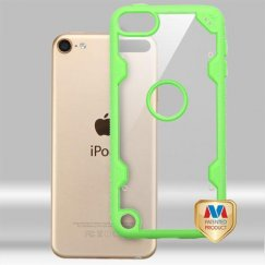 Apple iPod Touch (6th Generation) Transparent Clear/Electric Green Hybrid Case