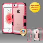 Apple iPhone SE Natural Pink Frame PC Back/Black Vivid Hybrid Case