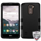 LG LG G Stylo 2 Plus Rubberized Black/Black Hybrid Phone Protector Cover