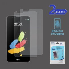 LG G Stylus 2 Anti-grease LCD Screen Protector - Clear - 2-pack