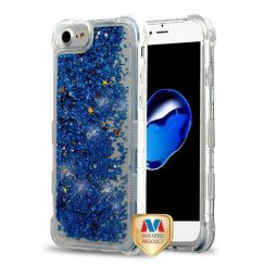 Blue Flowing Sparkles Quicksand Glitter Lite Hybrid Protector Cover