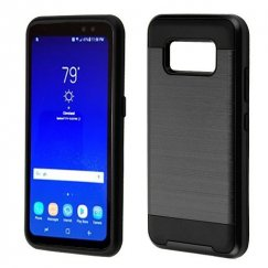 Samsung Galaxy S8 Active Black/Black Brushed Hybrid Case