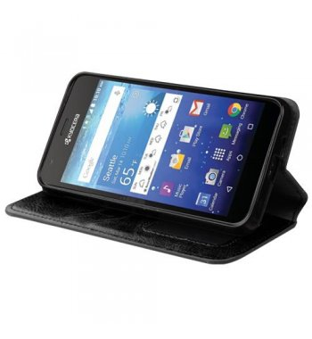 Kyocera Wave / Hydro Air Black Wallet with Tray