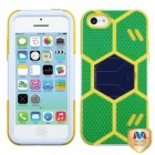 Apple iPhone 5c Green/Yellow Goalkeeper Hybrid Case with Dark Blue Stand