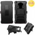 LG G Vista 2 Black/Black Advanced Armor Stand Protector Cover (With Black Holster)