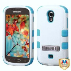 Samsung Galaxy Light Natural Ivory White/Tropical Teal Hybrid Case with Stand