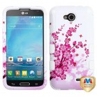 LG Optimus L90 Spring Flowers/Solid White Hybrid Case