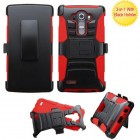 LG G4 Black/Red Advanced Armor Stand Case with Black Holster