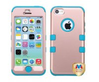 Apple iPhone 5/5s Rose Gold/Tropical Teal TUFF Hybrid Phone Protector Cover