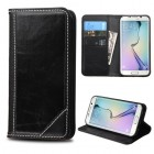 Samsung Galaxy S6 Edge Black Genuine Leather Wallet