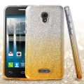 Alcatel Fierce 4 / Pop 4 Plus / Allura Gold Gradient Glitter Hybrid Case