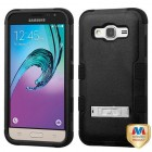 Samsung Galaxy J3 Natural Black/Black Hybrid Case with Stand
