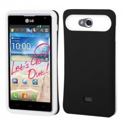 LG Spirit 4G Rubberized Black/White Back Case