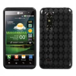 LG Thrill 4G Smoke Argyle Candy Skin Cover