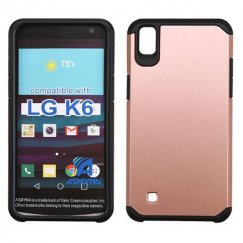 LG X Power / K6 Rose Gold/Black Astronoot Case