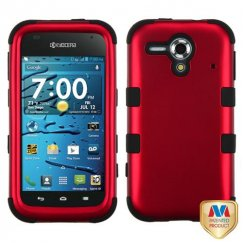Kyocera Hydro Edge Titanium Red/Black Hybrid Case
