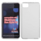 Blackberry Z10 Semi Transparent White Candy Skin Cover - Rubberized