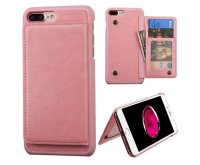 Apple iPhone 7 Plus Pink Flip Wallet Executive Protector Cover(with Snap Fasteners)