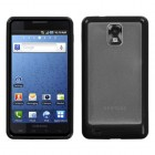 Samsung Infuse 4G Transparent Clear/Solid Black Gummy Cover
