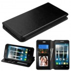 Alcatel Fierce 4 / Pop 4 Plus / Allura Black Wallet with Tray