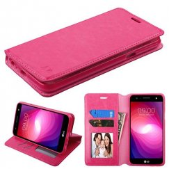 LG X Power 2 Hot Pink Wallet with Tray