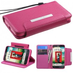 LG Optimus L70 Hot Pink Wallet