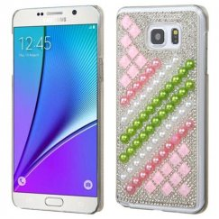 Samsung Galaxy Note 5 Diagonal Stripe Pearls Desire Back Case