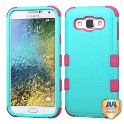 Samsung Galaxy E5 Natural Teal Green/Electric Pink Hybrid Case