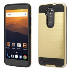 ZTE Blade Max 3 / Max XL Gold/Black Brushed Hybrid Case
