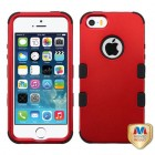 Apple iPhone 5/5s Titanium Red/Black Hybrid Phone Protector Cover