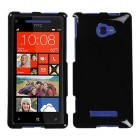 HTC Windows Phone 8x Solid Black Phone Protector Cover