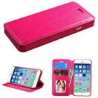 Apple iPhone 6/6s Hot Pink Wallet(with Tray)