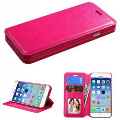 Apple iPhone 6/6s Hot Pink Wallet with Tray