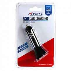 Black In-Car USB Charger Adapter with IC chips