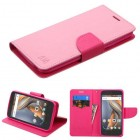Coolpad Catalyst Pink Pattern/Hot Pink Liner Wallet (with card slot)