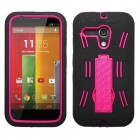 Motorola Moto G Hot Pink/Black Symbiosis Stand Protector Cover