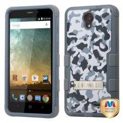 ZTE Avid Plus / Maven 2 Urban Camouflage/Iron Gray Hybrid Case with Stand