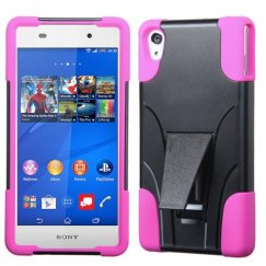 Sony Xperia Z3V Hot Pink Inverse Advanced Armor Stand Case