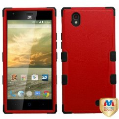 ZTE Warp Elite Natural Red/Black Hybrid Case