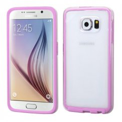 Samsung Galaxy S6 Transparent/Purple Candy Frame Case