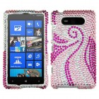 Nokia Lumia 820 Phoenix Tail Diamante Protector Cover
