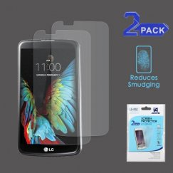 LG K10 Anti-grease LCD Screen Protector - Clear - 2-pack -Strong Adhesion & Ultra-thin