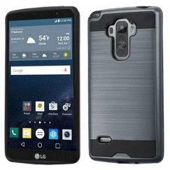 LG G Stylo Ink Blue/Black Brushed Hybrid Case