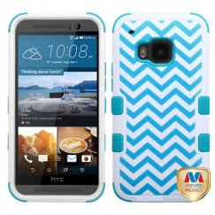 HTC One M9 Blue Wave/Tropical Teal Hybrid Case