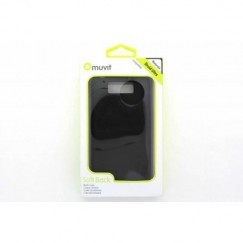Motorola Droid Ultra Muvit Soft Back Case Cover - Black