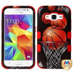 Samsung Galaxy Core Prime Basketball Hoop/Red Hybrid Case