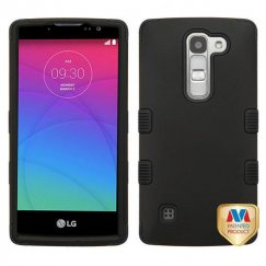 LG Escape 2 Rubberized Black/Black Hybrid Case